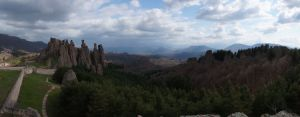 The view of the rock formations from Belogradchik Fortress