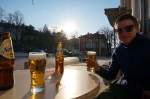 Beer o'clock in Belogradchik